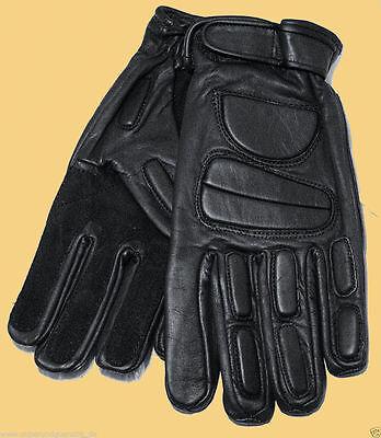 CI Polizei Handschuhe Leder  Polizeihandschuhe mit Schutzpolster Protektoren 383 ()