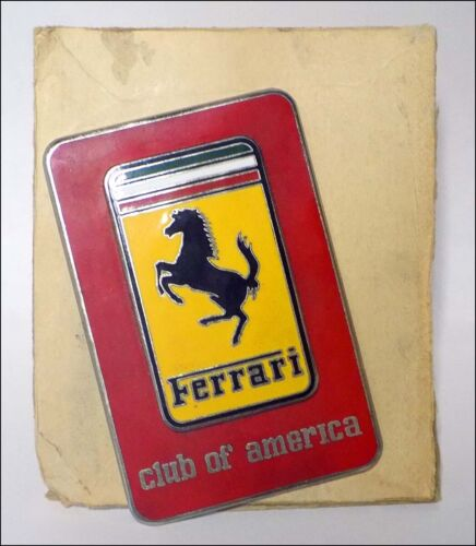 NOS Vintage FERRARI CLUB OF AMERICA Grille Badge Early 1970s Cloisonne