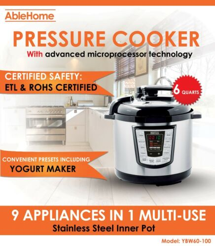 Electric Pressure Cooker Multi-function 6 Quarts 1000W Stain