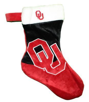 Logo Plush Stocking (Oklahoma Sooners 2018 NCAA Basic Logo Plush Christmas)