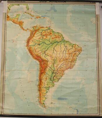 Schulwandkarte Role Map Wall Chart South America Diercke Westermann 1:6000000