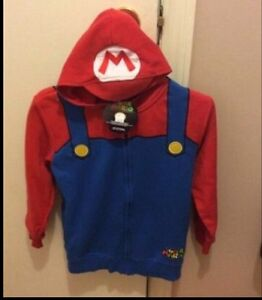 New with tags youth size large super Mario hoodie