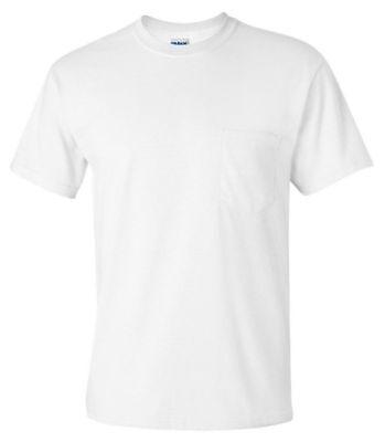 Gildan Men's Adult Seamless Chest Pocket Comfort jersey T-Shirt, Pack10. 2300