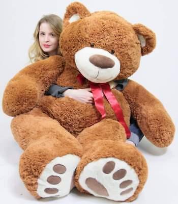 5 Foot Very Big Brown Teddy Bear Soft, 5 Feet Tall Giant Stuffed Animal Bear New](5 Foot Stuffed Animal)
