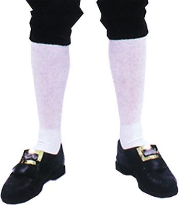Morris Costumes Men's White Colonial Pair Socks. BB156 - Duo Halloween Costumes For Men