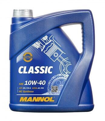 Aceite de motor 10W40 Ester Lubricante para coches MANNOL Classic 5L