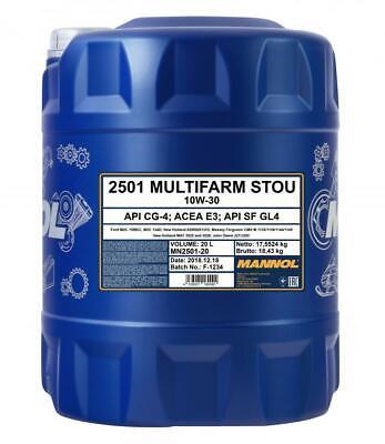 Mannol Multifarm STOU 10w30 Tractor Agricultural Oil - 20 ltr German Hi Spec CG4