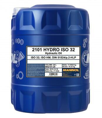 20L Mannol ISO 32 Hydraulic Oil DIN 51524 part 2, HLP HF-2 HF-0