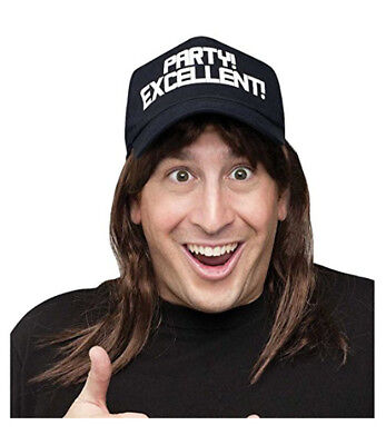Waynes World Wig (Excellent! Hat with Attached Wig Waynes World Waynestock Wayne Campbell)