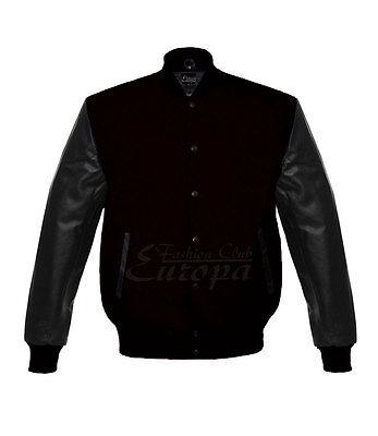 Best Genuine Leather Sleeve Letterman College Varsity Men Wool