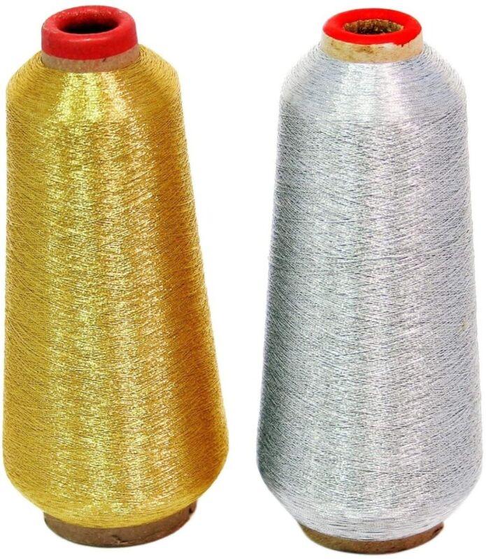 Gold & Silver Metallic Machine Embroidery Threads - 10000 Yards