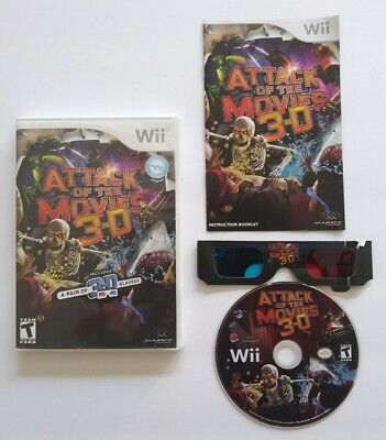 Attack of the Movies 3-D 3D (Nintendo Wii) Complete