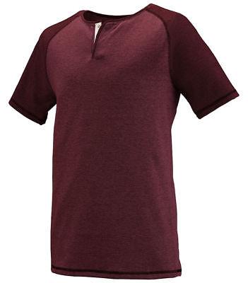 Augusta Sportswear Men's New Slim Fit Short Sleeve Placket Henley T-Shirt. 2152 Augusta Sportswear Henley
