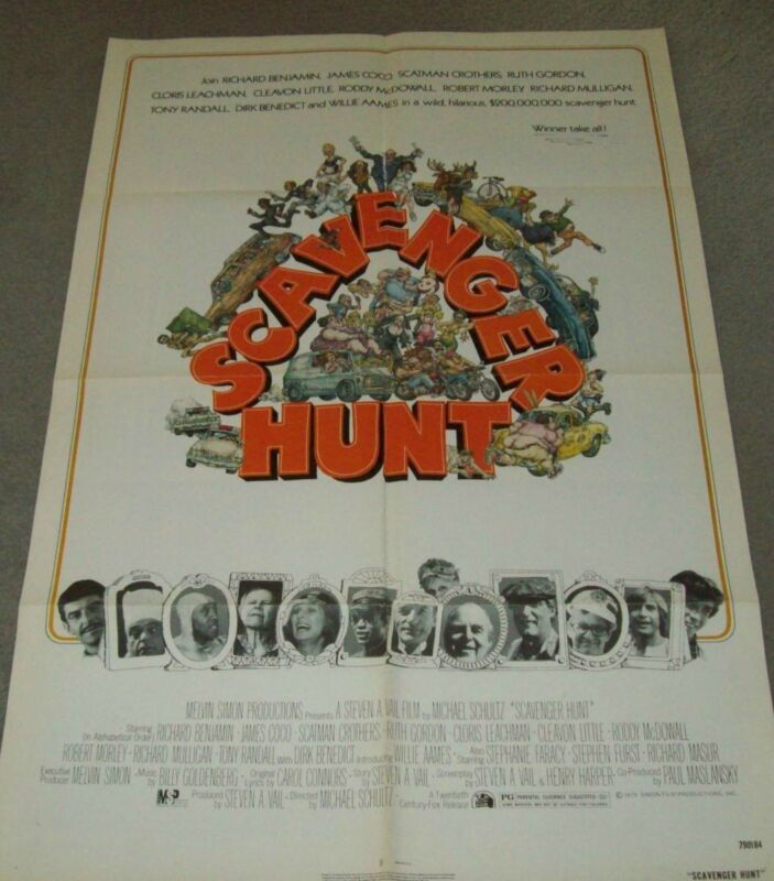 "AUTHENTIC MOVIE POSTER FROM 1979, ""SCAVENGER HUNT""......."