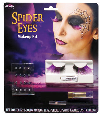 Morris Costumes Women's Spider Eye Lashes Makeup Kit One Size. FW5679S](Spider Halloween Costume Makeup)