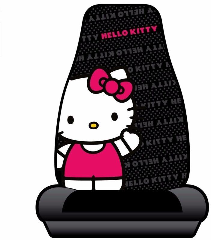 PLASTICOLOR  HELLO KITTY SEAT COVER, BLK (10A4-006*M))