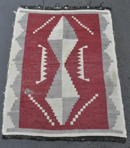 """Handsome Navajo Ganado Red Rug  - With Wear - c. 1920 - 53"""" x 39"""""""