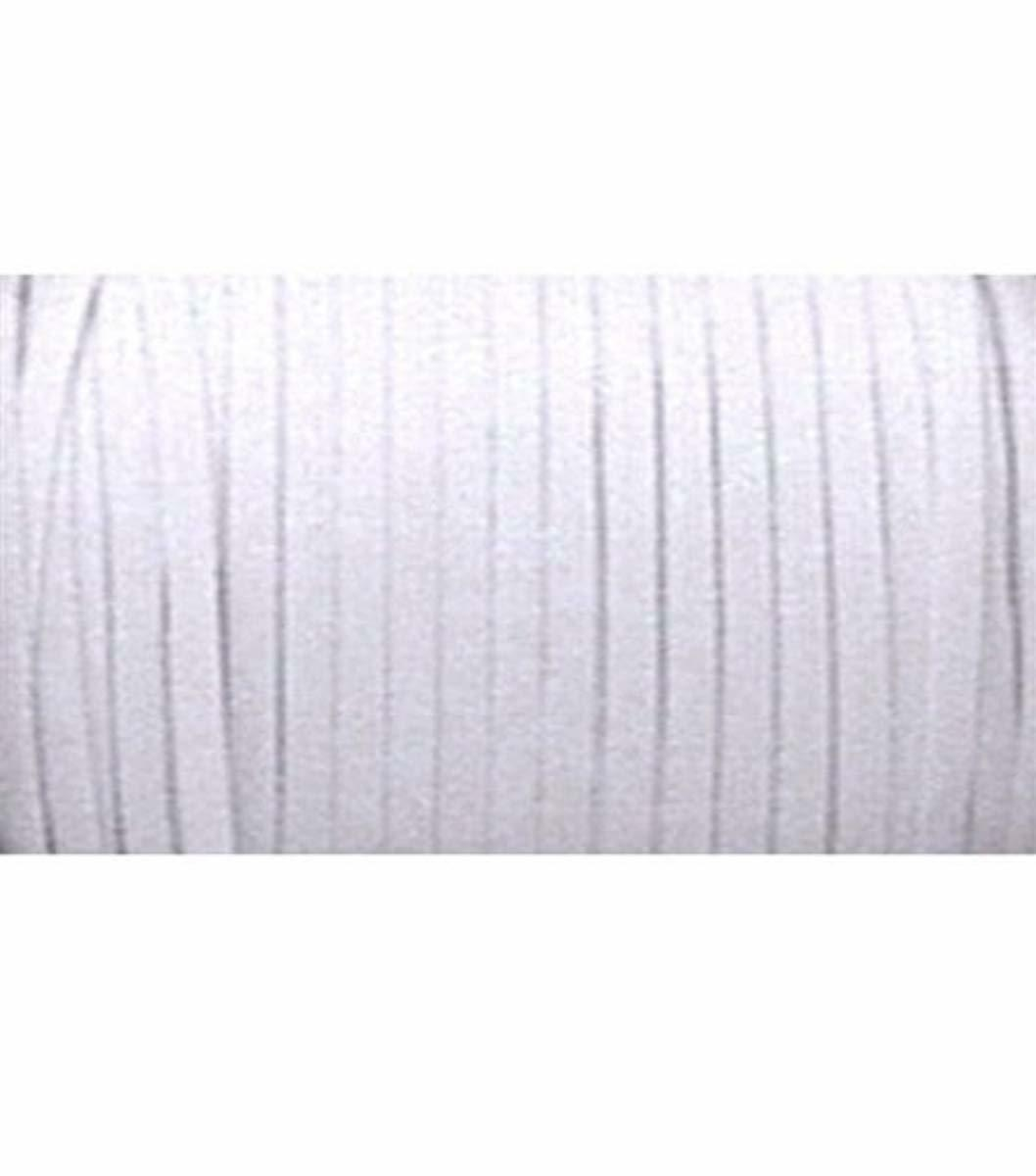 """Washable and dry cleanable White Braided Elastic 1//4/"""" Roll 144 Yards for sewing"""