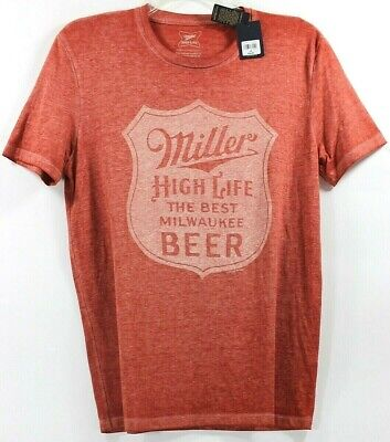 Lucky Brand Miller High Life The Best Milwaukee Beer T-Shirt Tee