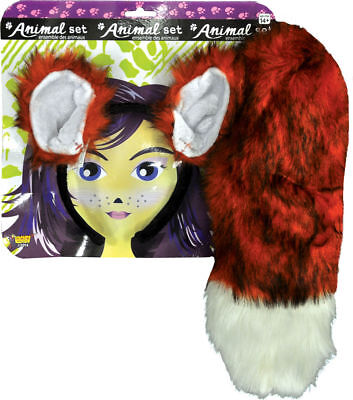 Morris Costumes Accessories & Makeup Animals Fox Ears And Tail Set. - Fox Costume Makeup