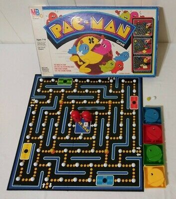 1980 Milton Bradley - Pac-Man Board Game COMPLETE BASED ON CLASSIC VIDEO GAME