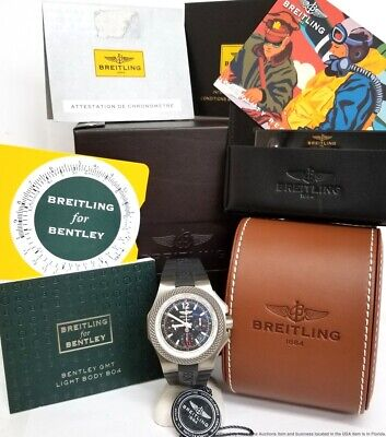 EB043335/BD78 Breitling Bentley GMT Automatic Black Dial Men's Watch