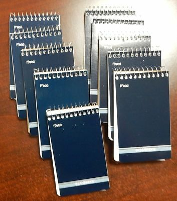 10 Mead Cambridge Writing Pad 3 X 5 Small Memo Book Wirebound Notebook 70sheet