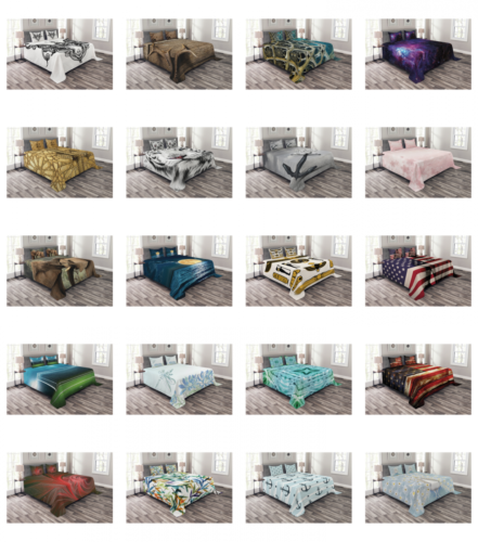 Bed Coverlet Set Quilted Decorative Bedspread with Pillow Sh