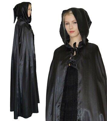 Umhang Mittelalter Gothic LARP Cape Vampir Kostüm Hexe für Damen