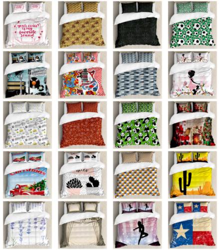 Ambesonne Duvet Cover Sets, Pillow Shams Bedding Sets King Q