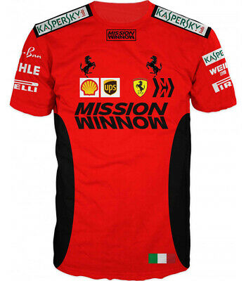 NEW 2020 Scuderia FERRARI Mission F1 Team Motosport T Shirt Tee Red Vettel