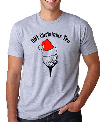 Golf Lover Gift -  OH! CHRISTMAS TEE Funny song Golf Lover sports present Christmas Gift T-Shirt