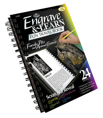 (Royal Langnickel Engrave Art Book Engraving 12 Projects Scratch Scrap FAMILY PET)