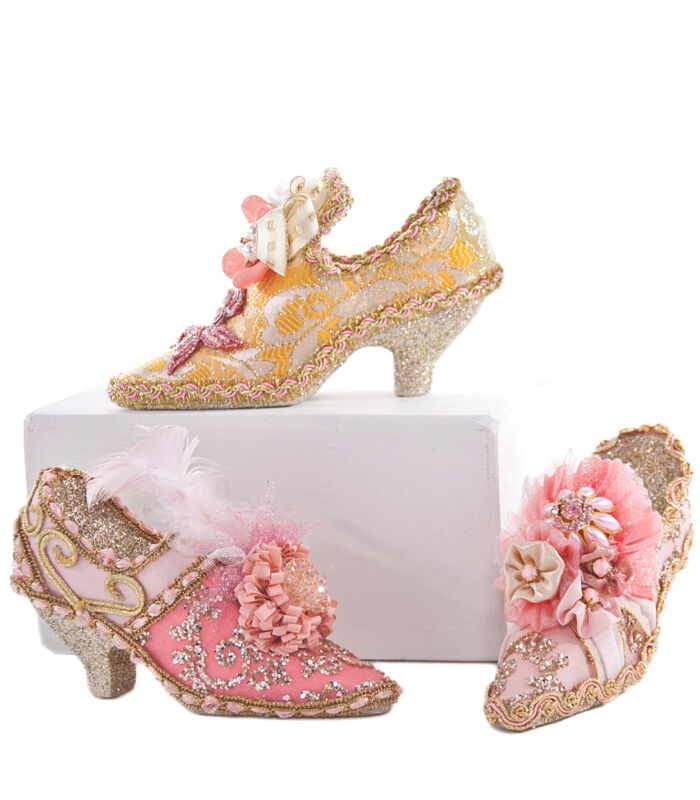 Fancy French Shoe Ornaments Christmas Fashion - Katherine's Collection 28-628310