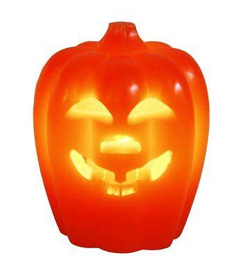 HAAC Led Kürbis Kerze Halloween Größe 10,5 cm x 8,5 cm Farbe orange