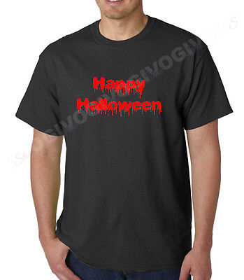 Happy Halloween T Shirt Scary Funny Tee Costume Spooky Horror Gift Short Sleeve - Happy Halloween Costumes Scary