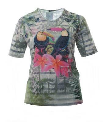 That`s Me T-Shirt Damen Grün mit Kakadu große Größen](Thats Gross)