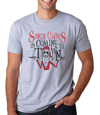 SANDY CLAWS IS COMING TO TOWN Santa Claus Christmas song movie Men's T-shirt