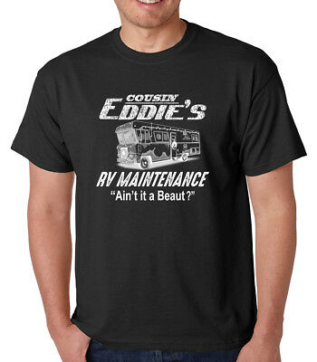 COUSIN EDDIE'S RV MAINTENANCE Christmas vacation funny gift crew neck T-Shirt (Cousin Eddie Christmas Vacation)
