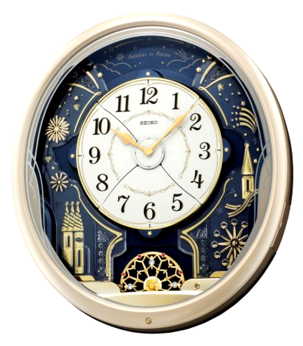 new seiko melodies in motion wall clock