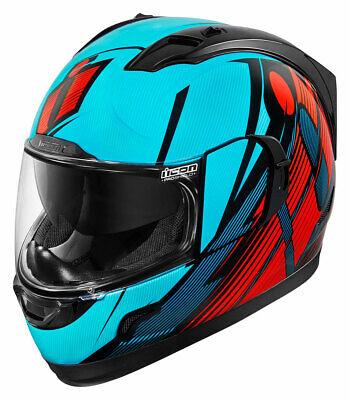 Choose Size ICON Alliance Dark Motorcycle Helmet Rubatone Flat Black
