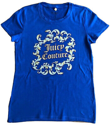 Womens Juicy Couture Blue T-Shirt Small