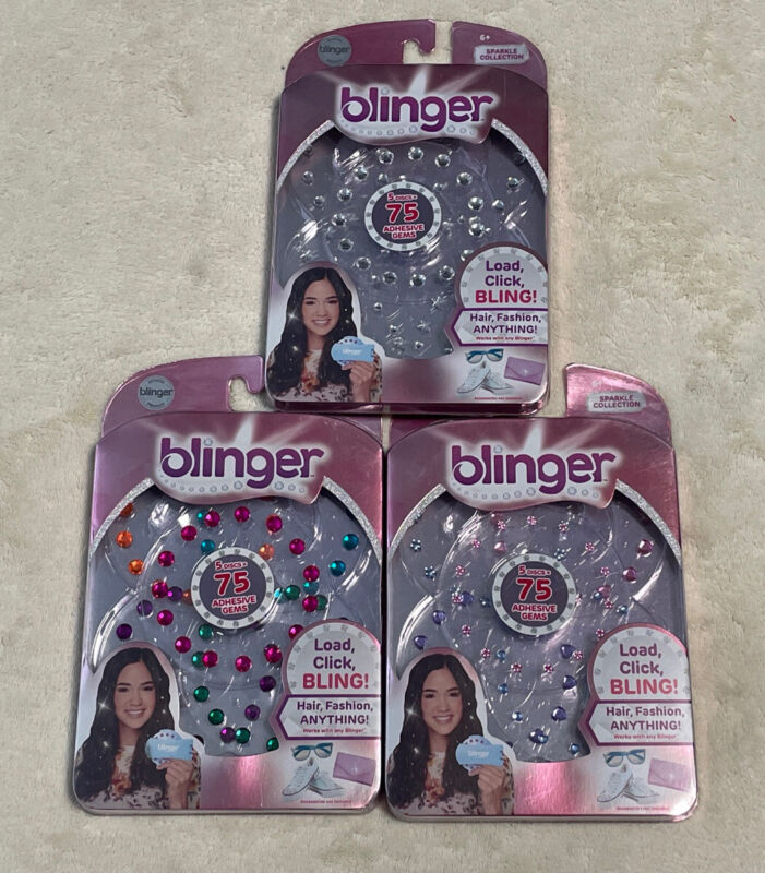 Blinger Sparkle Collection 3 Pack - 225 Adhesive Gems - Free Shipping