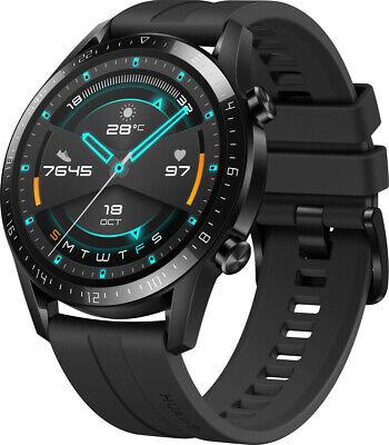 Huawei Watch GT 2 Sport 46mm GPS Edelstahl Smartwatch Uhr Fitnesstracker schwarz