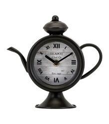 Imax Teapot Desk Clock, Bronze