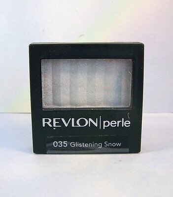 Revlon Eye Shadow Luxurious Color Perle Powder Shadow - Glistening Snow 035 for sale  Shipping to India