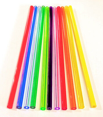 11 Different Colors 38 Od X 18 Id Clear Acrylic Tubes Red Blue Green Orange
