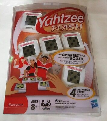 "Hasbro Electronic Yahtzee Flash Game - Smartest Dice (4 Fast Action Games) ""NEW"", used for sale  Miami"