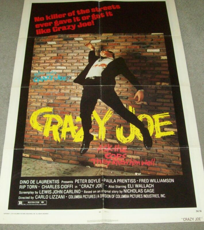 "AUTHENTIC/ORIGINAL MOVIE ADVERTISING POSTER FROM 1974, ""CRAZY JOE"","