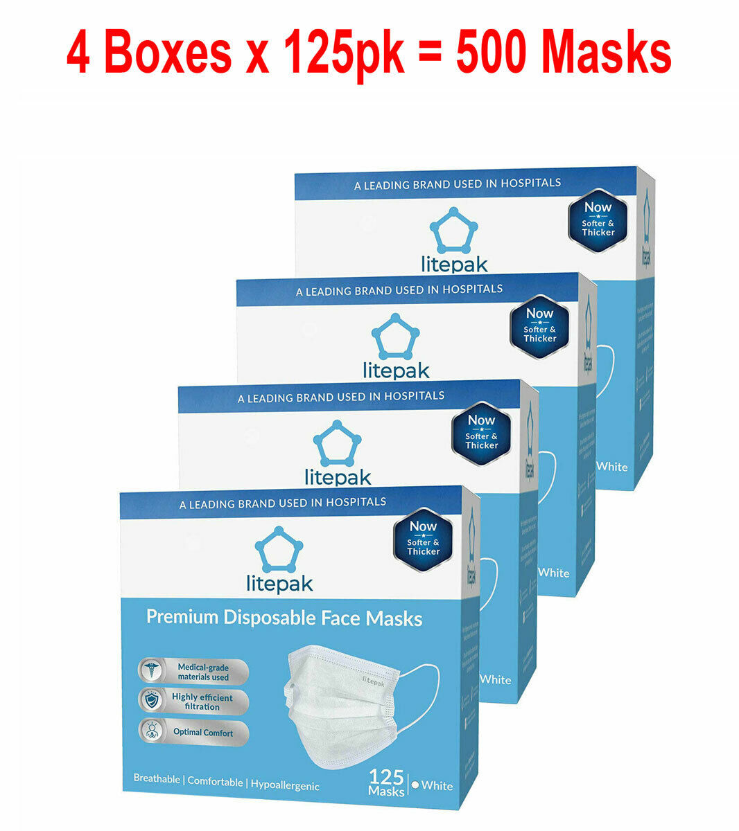 3-ply premium dental surgical medical disposable earloop face masks
